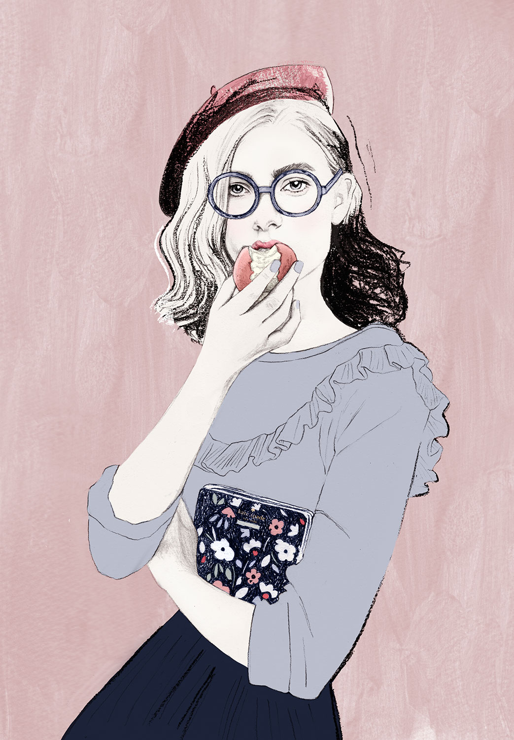 Elodie-illustratrice-mode-preppy