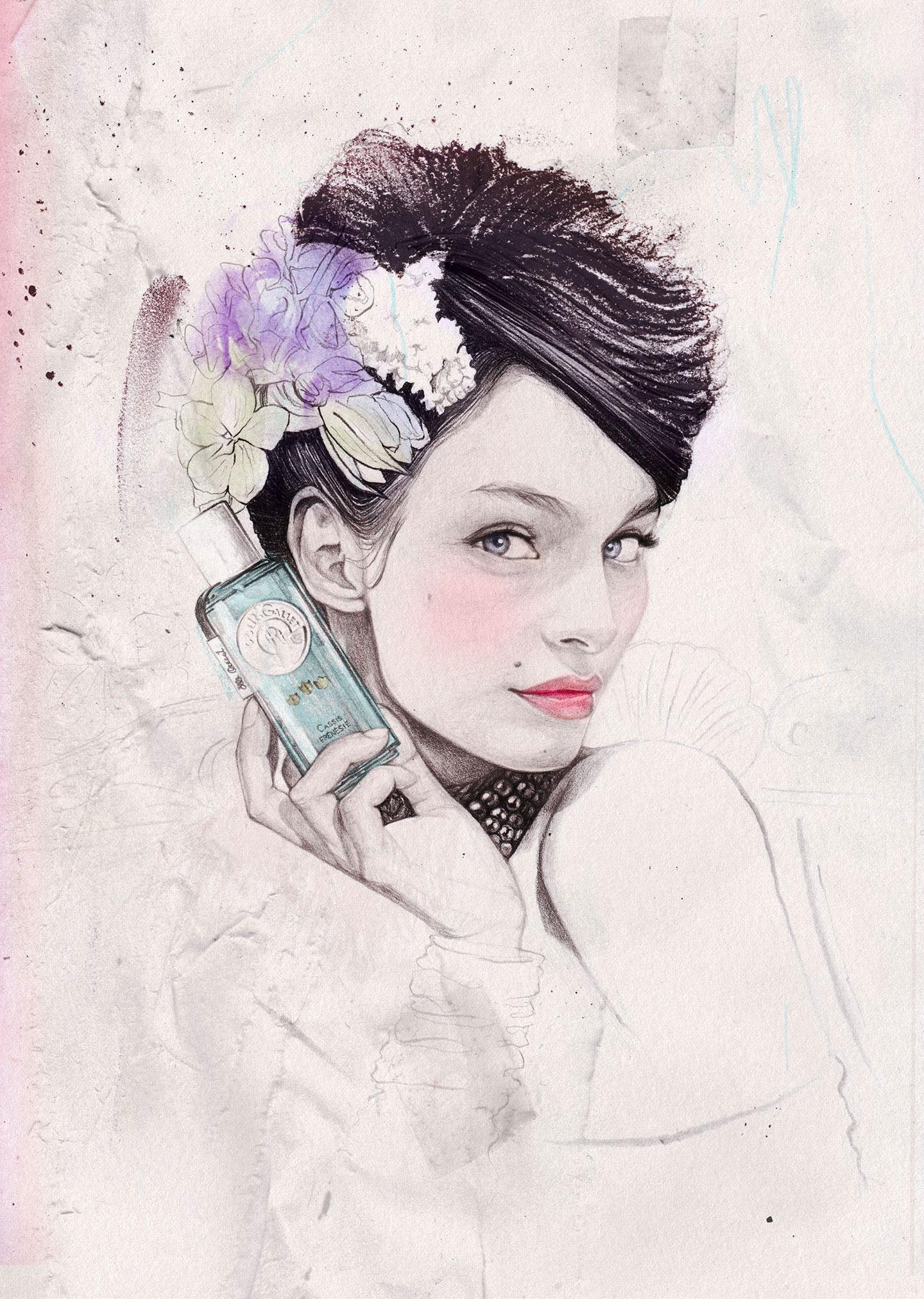 Ëlodie, illustratrice beauté, cosmétiques