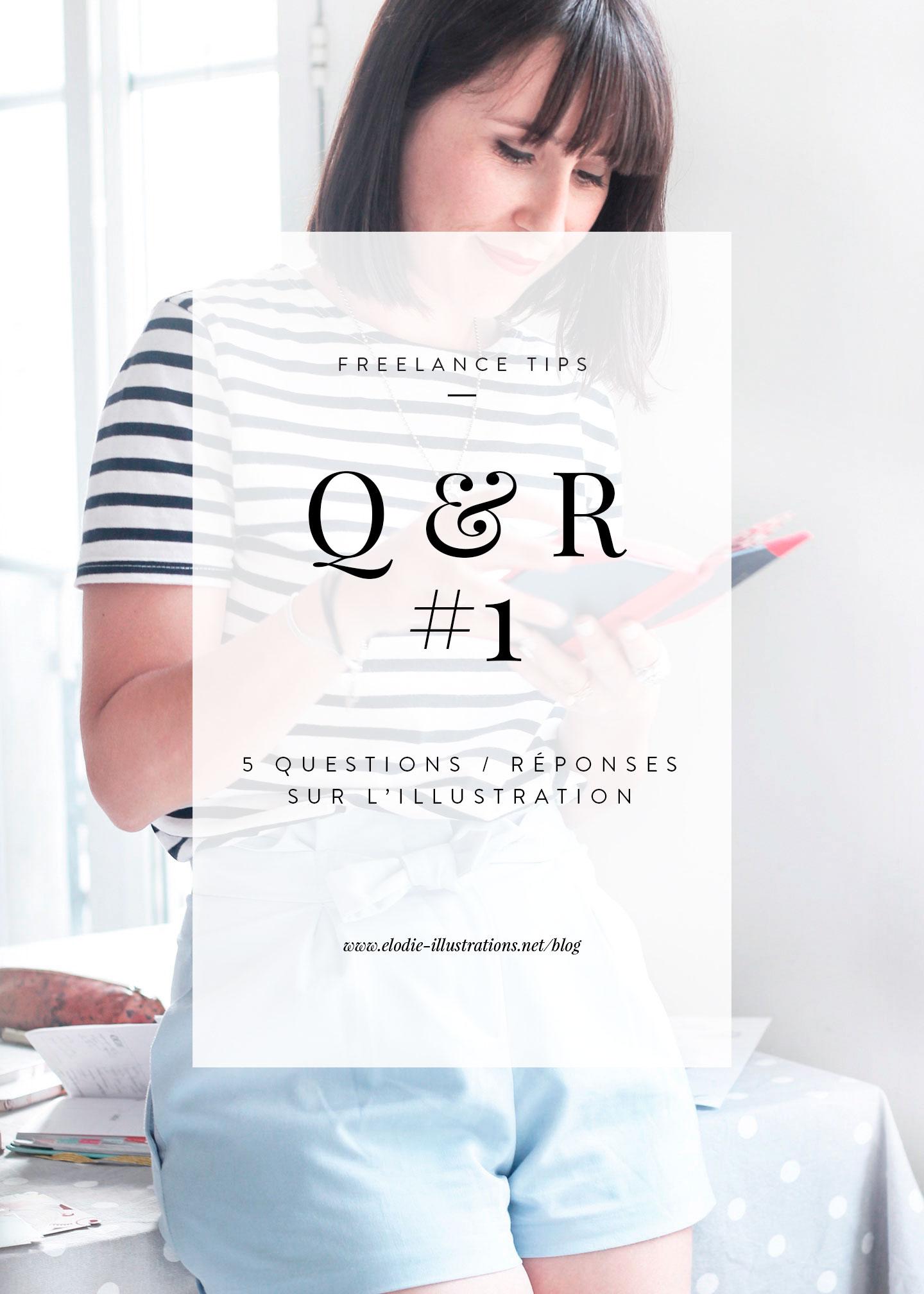 Q&R #1 | Depuis quelques temps j'ai commencé à rassembler toutes les questions que l'on a pû me poser sur mon métier d'illustratrice au cours des dernières années car je sentais que cela pourrait servir un jour. Et aujourd'hui, j'ai décidé de partager avec vous mes réponses à ces questions en espérant que cela puisse vous être utile. - Cliquez pour découvrir l'article