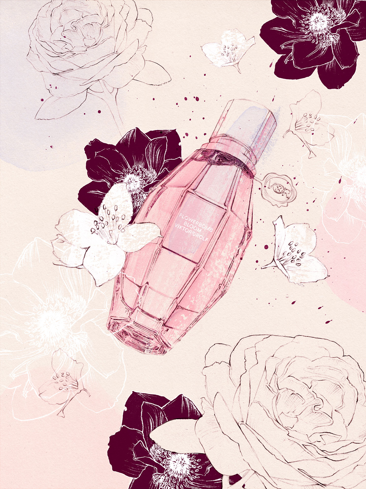 Elodie-Blog-VIKTOR-ROLF-FLOWERBOMB-BLOOM-illustration