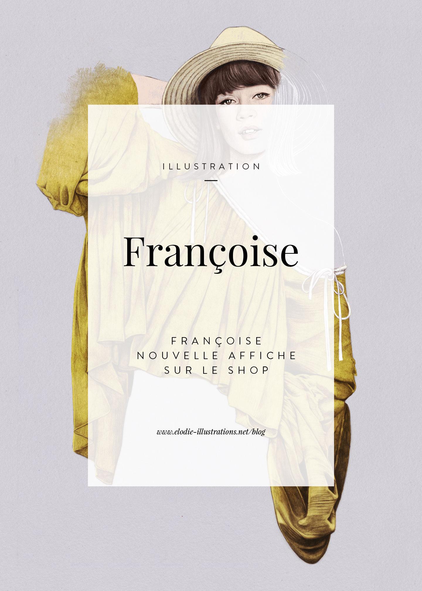 Françoise| Nouvelle affiche inspirée de Françoise Hardy disponible sur le shop. - Cliquez pour découvrir l'article