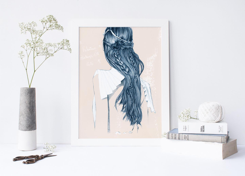 Affiche à imprimer gratuitement - Valentino Printemps-Eté 2016 | Télécharger et imprimer gratuitement cette illustration - Cliquez pour découvrir l'article