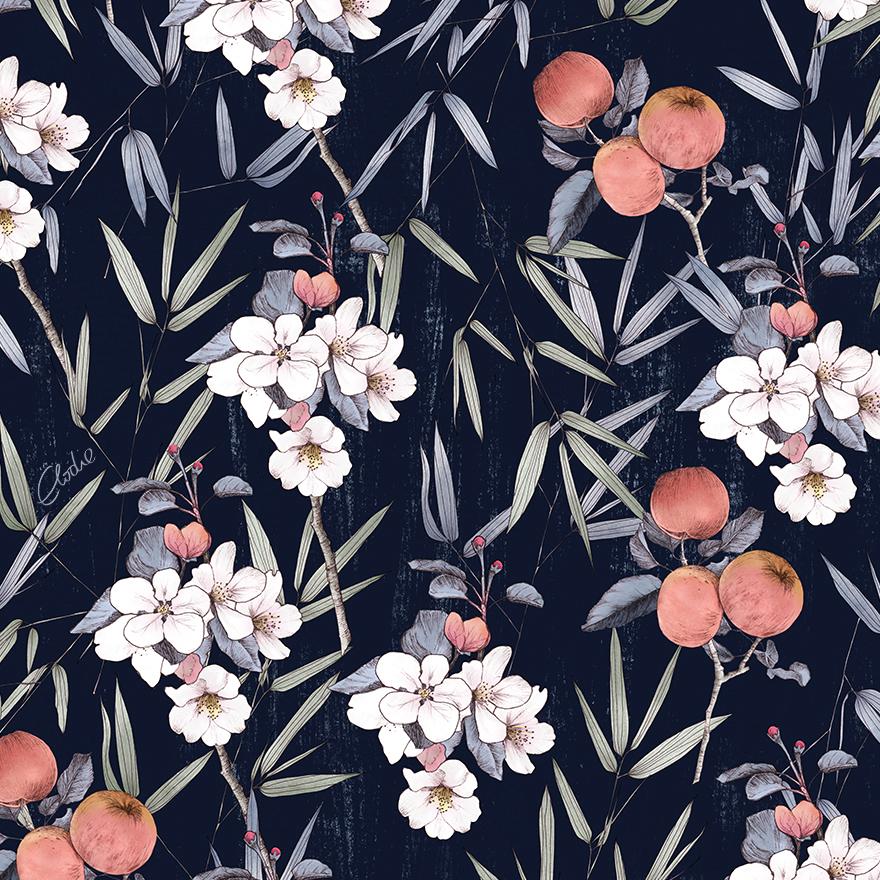 Elodie_illustratrice-motif-fleur