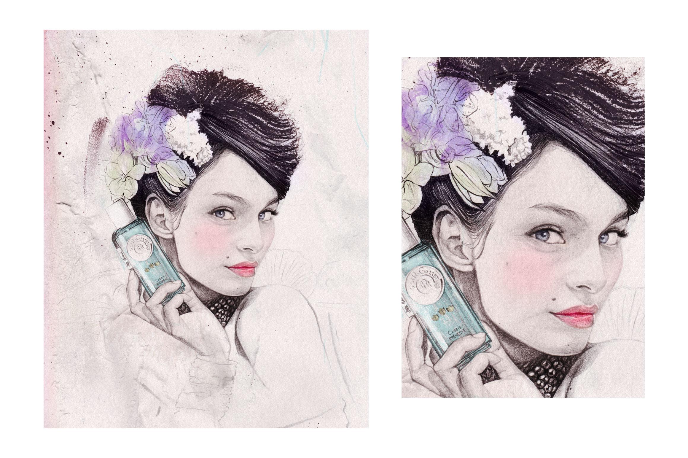 Elodie illustratrice motif packaging
