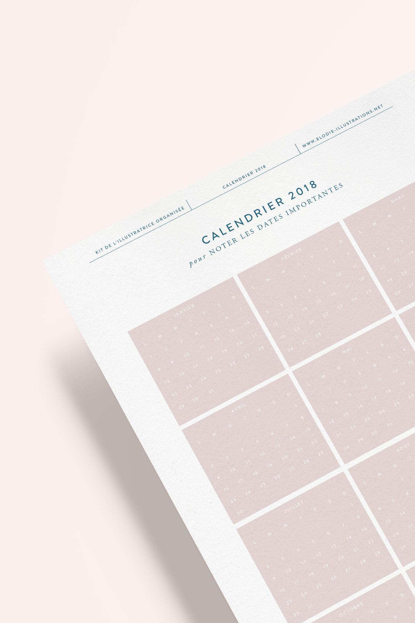Kit de l'illustratrice organisée 2018 - Cliquez pour découvrir l'article
