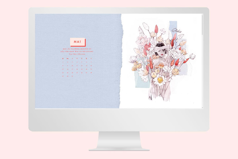Fond d'écran gratuit de mai Bloom - Cliquez pour découvrir l'article