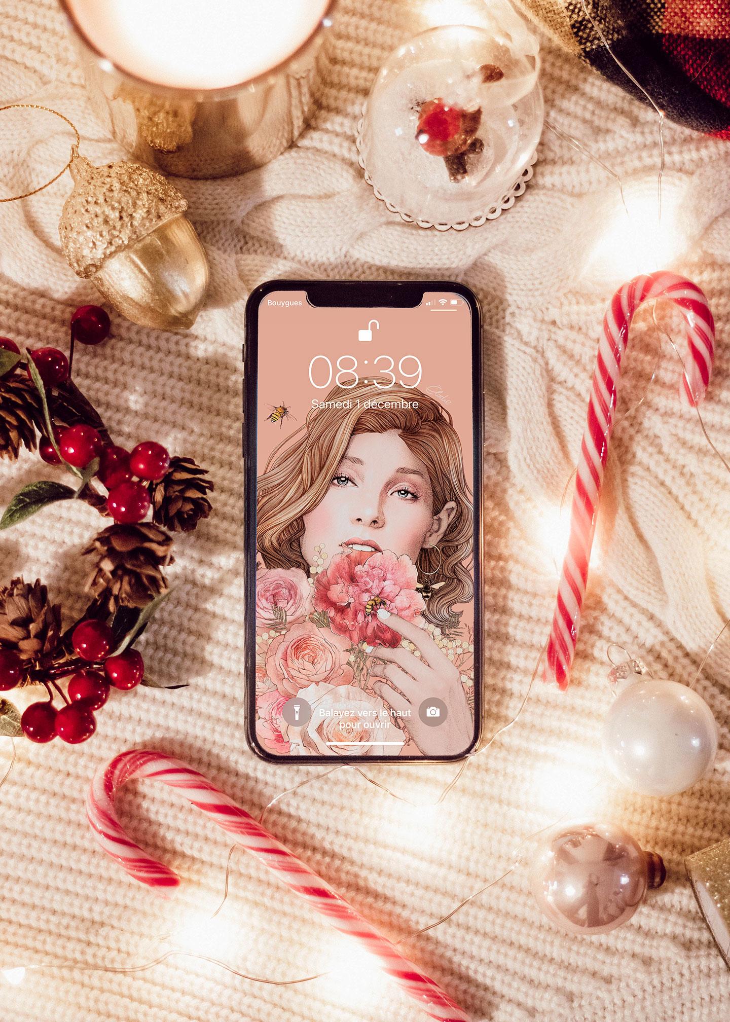 Fond d'écran gratuit de décembre - Bouquet - Cliquez pour découvrir l'article